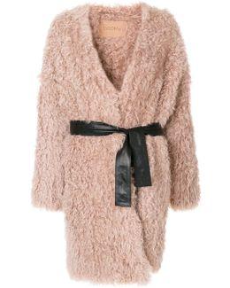 Fluffy Belted Coat