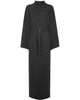 Turtleneck Split Sleeve Sweater Dress