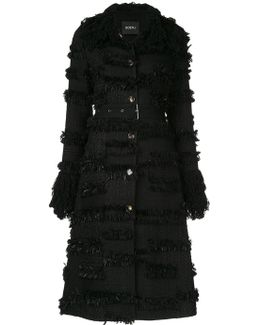 Fringed Belted Coat