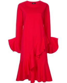 Ruffled Jersey Dress