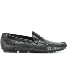 Snakeskin Effect Loafers