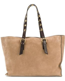 Tote Bag With Tonal Straps