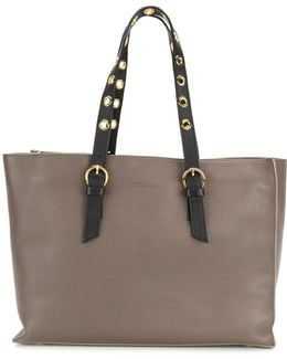 Tote Bag With Contrasting Straps