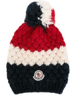 Striped Logo Bobble Hat