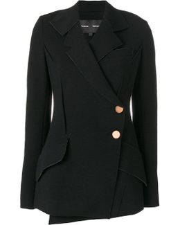 Wrap Front Tailored Jacket