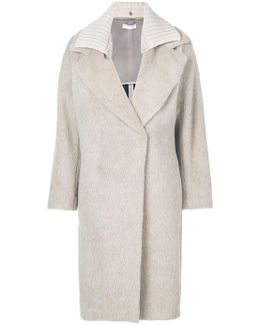 Oversized Ribbed Collar Coat