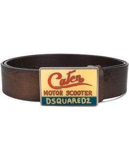 Enamelled Caten Buckle Belt