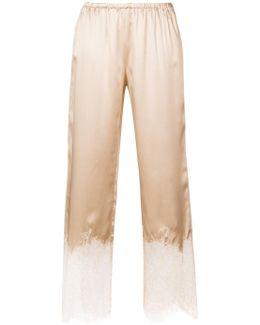 Scalloped Lace Slip Pants