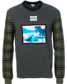 Tropical Ice Motif Sweater