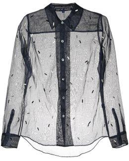 Embroidered Sheer Shirt