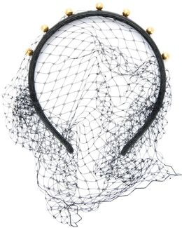 Faux Pearl Net Detail Headband