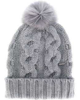 Pom Pom Knitted Hat
