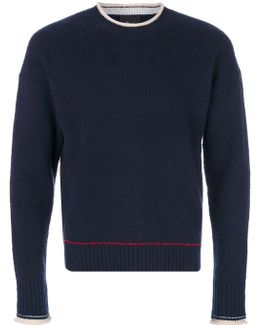 Knit Contrast Neck Jumper