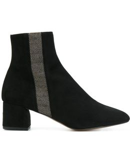 Stripe Detail Ankle Boots