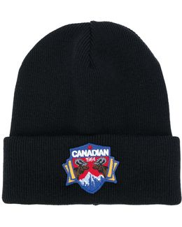 Canadian Patch Knit Hat