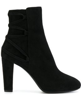 Lace Up Detail Ankle Boots