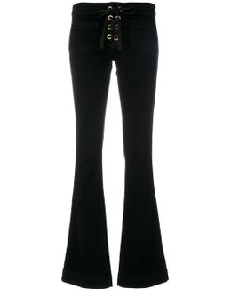 Lace-up Fastening Bootcut Jeans