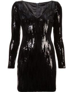 Sequin Appliqué Short Dress
