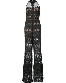 Jumpsuit With Sheer Panels
