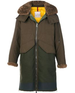 Hooded Two Tone Parka