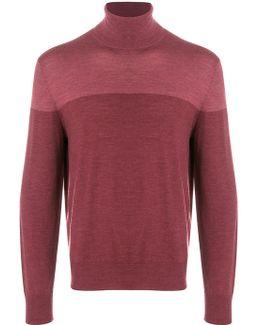 Roll Neck Contrast Sweatshirt