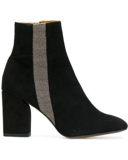 Stripe Ankle Boots