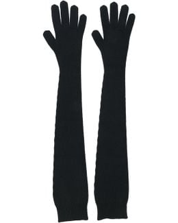 Long Knitted Cashmere Gloves