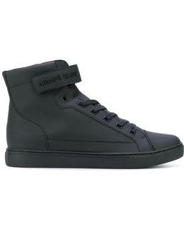 Hi-top Strap Sneakers