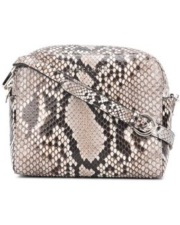 Snake-effect Crossbody Bag
