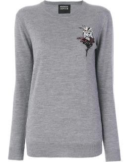 Embroidery And Sequin Polar Sweatshirt