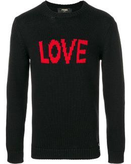 Love Intarsia Knit Jumper