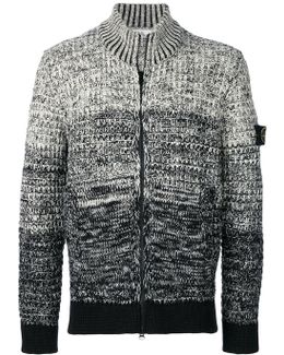 Zipped Knitted Cardigan