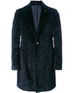 Shearling Single Breasted Coat