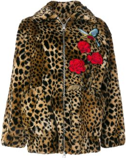 Leopard Print Embroidered Jacket