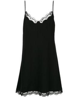 Lace Trimmed Slip Dress