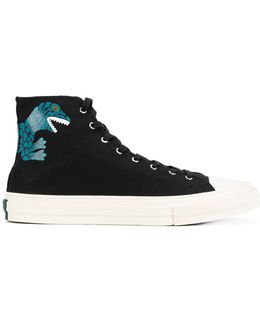 Printed Hi-top Sneakers