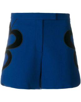 Velvet Trim Heart Shorts