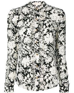 Floral Ruffle Trim Shirt