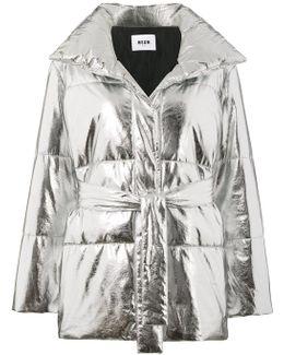 Metallic (grey) Puffer Jacket