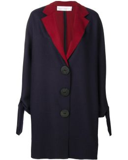 Contrast Coat With Large Buttons