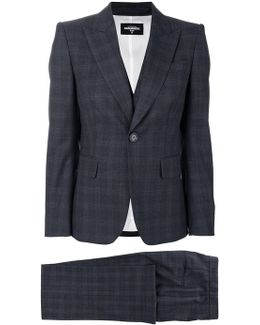 Checked Three Piece Suit