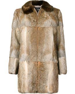 Zip Up Fur Coat