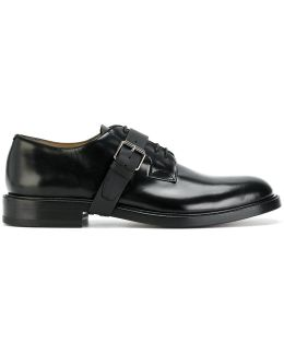 Lace-up Buckle Derby Shoes