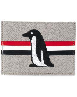 Penguin Embroidered Cardholder