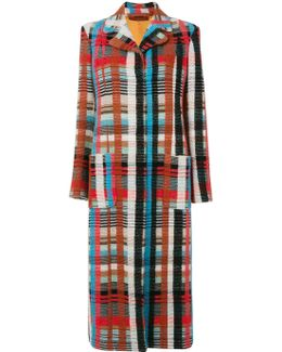 Tailored Long Check Coat