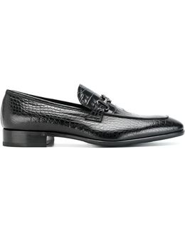 Reptile Effect Loafers