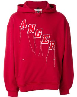 Anger Embroidered Hoodie