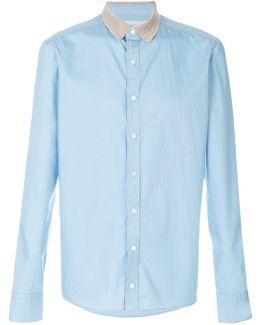 Contrast Collar Shirt