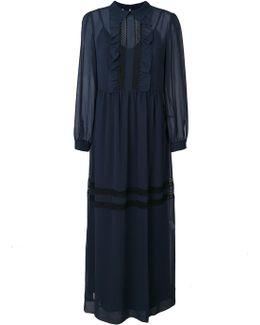 Ruffled Front Maxi Dress