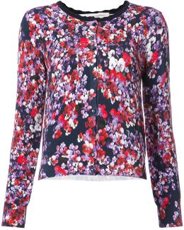 Floral Print Buttoned Cardigan